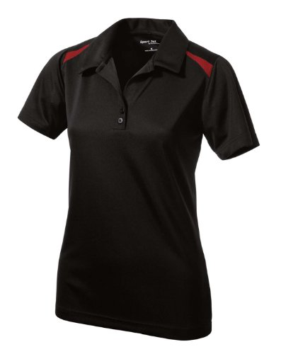 Sport-Tek LST670 Ladies Vector Sport-Wick Polo - Black/True Red - XL