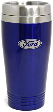 Ford Travel Mug Travel Coffee Mug Cup Stainless Steel Tea Mug Thermo - Blue