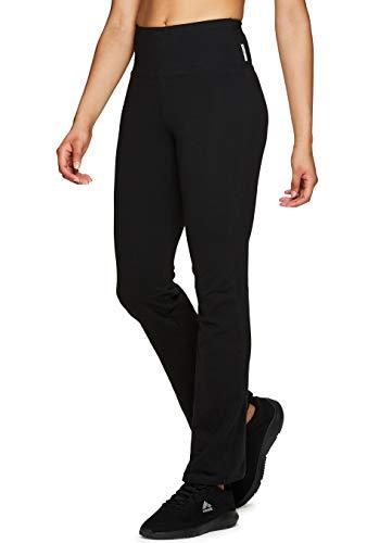 RBX Active Women's Full Length Tummy Control Workout Bootcut Yoga Pants S19 Black L