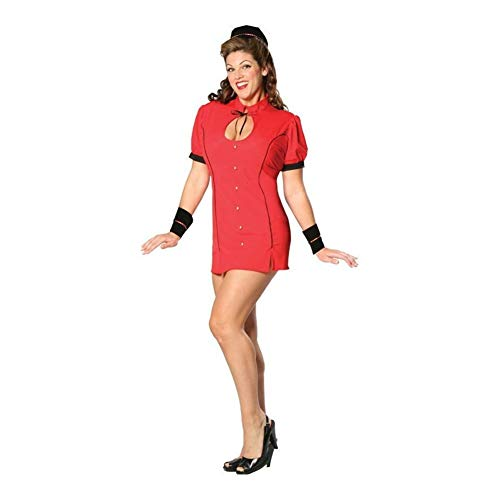 Cinema Secrets Women's Bell Hop Bettie Costume 2XL Red -