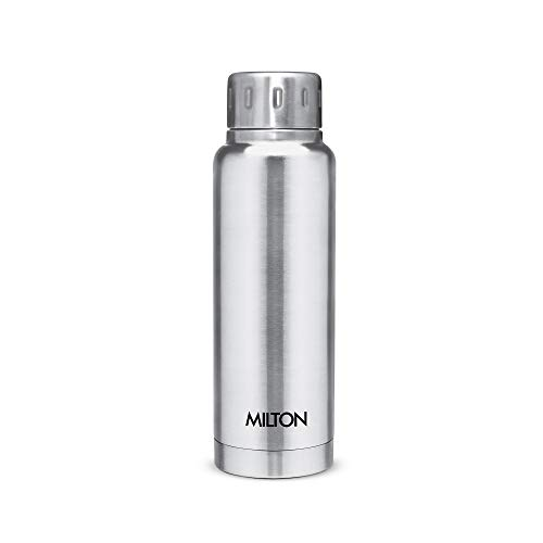 Milton Elfin 300 Thermosteel 24 Hours Hot and Cold Water Bottle, 300 ml, Silver Price & Reviews