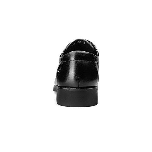 liscia Color in pelle lavoro con 42 Scarpe da Dimensione Pelle e Nero uomo traspirante lacci da shoes Scarpe EU Nero formali Giunture Uomo Xiaojuan Pqwf7Uxv8