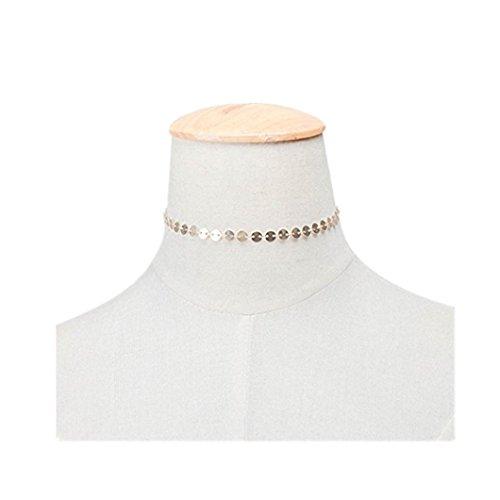 DZT1968 PendantNecklace Choker sequined necklace