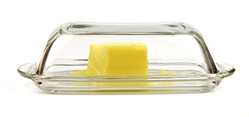 - Glass Butter Dish with Cover