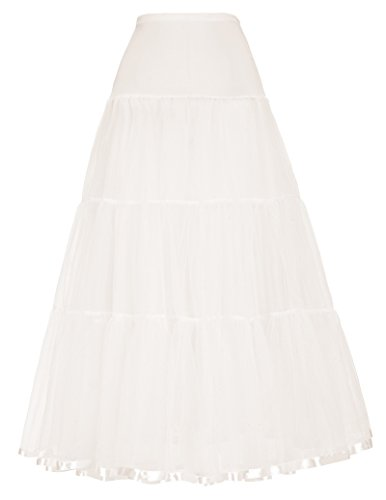 Peasant TieIvory Renaissance Party Maxi Dress Petticoat Crinoline