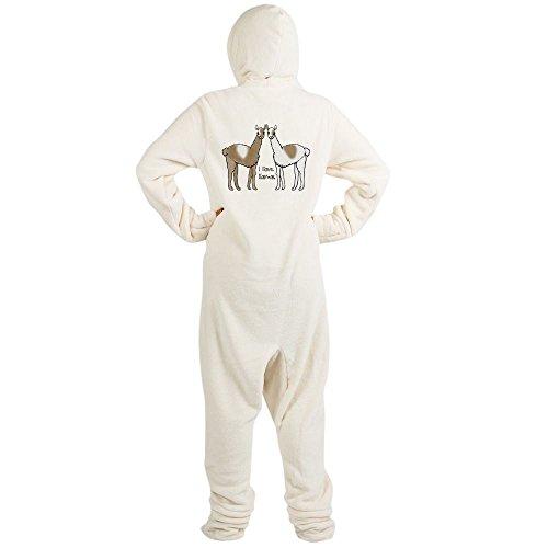 CafePress - I Llove Llamas - Novelty Footed Pajamas, Funny Adult One-Piece PJ Sleepwear (Bunny Onesies For Adults)