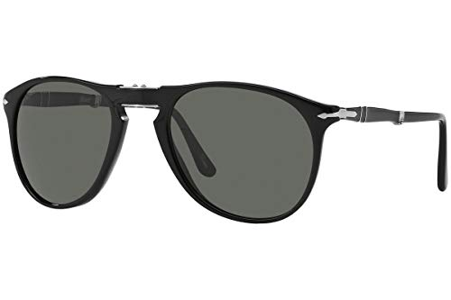 Persol PO9714S - 95/31 Sunglasses Black w/ Green Lens ()