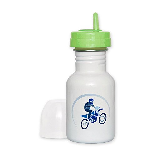 Sippy Cup Lime Lid Motocross MX Flying Dirt Bike in Blue (Harley Sippy Cups)
