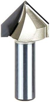 NO LOGO 1pc V Typ 3D Holzbearbeitung Fräser PVC Acryl Rand Anfasen Stich-Werkzeug Abgratwerkzeug V Typ Messer 04.01 * 04.01 (Farbe : 1pc, Größe : V00108)