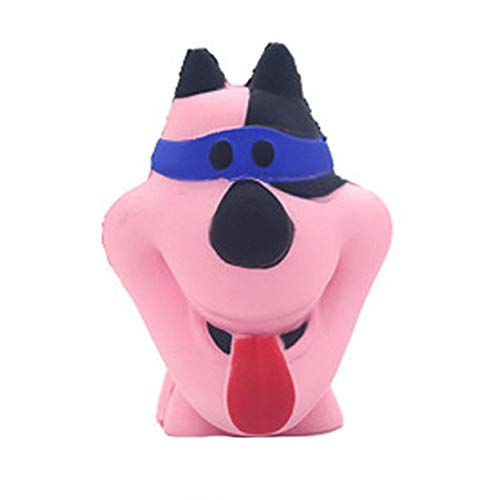 Squishies Cute Dog Slow Squeeze Toy,Rising Fruits Scented Stress Relief Toys by PSFS (Pink)