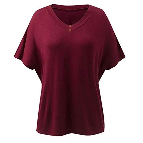 Tank Top Shirt Basic T-Shirt lässig Freizeit Sommer Größe 34 36 38 40 blau blue