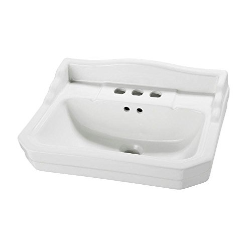 Foremost Series 1920 19.125 in. L Pedestal Sink Basin in White