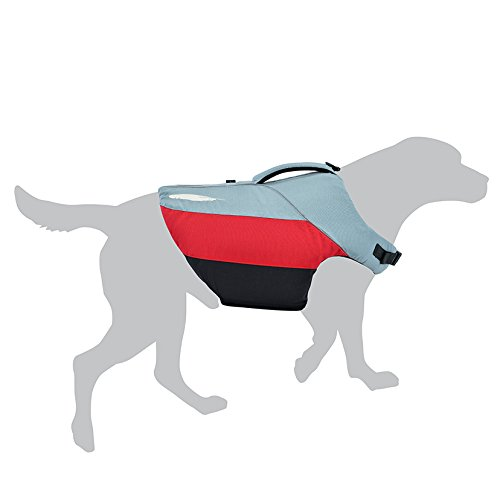 Gray Pvc Jacket (Astral BirdDog K9 PFD Dog Life Jacket - Hound Gray - L)