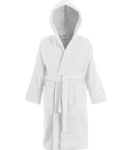 Kids Childrens Hooded Bathrobe Toweling Bath Robe Boys Girls