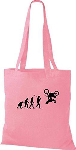 Shirtinstyle - Bolso de tela de algodón para mujer rosa - rosa