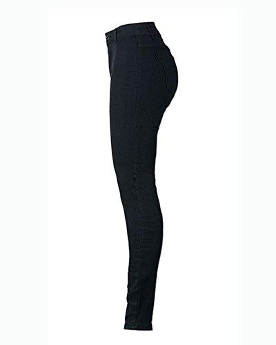 Vita Legging Leggings Donna Elastico Eleganti Nero Pantaloni Larghi Denim Alta Jeans Da 4qnxzd40