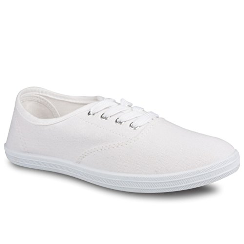 Twisted Women's Tennis Basic Athletic Lace Up Sneaker - WHITE, Size 8