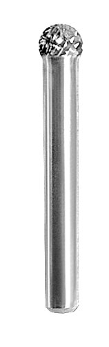 Shark Shark BT31 2.25-Inch Ball Shape Carbide Bur, Double Cut, 0.3125-Inch Diameter, 0.25-Inch Flute, Made in The US