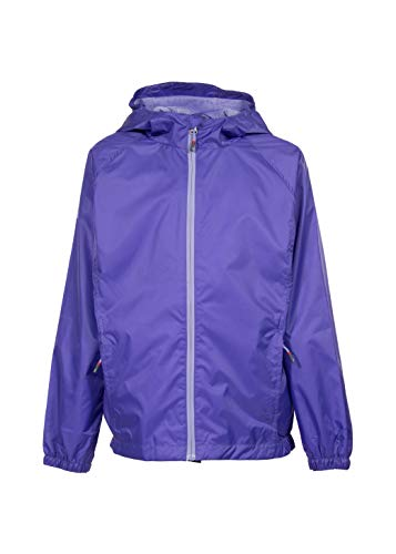 Swiss Alps Girls Wind Resistant Lightweight Rain Jacket, Purple Iris, ()