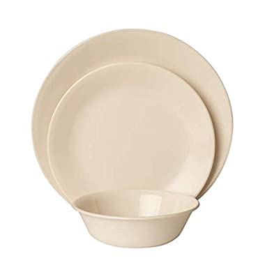 Corelle Impressions 18-Piece Dinnerware Set, Sandstone, Service for 6