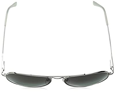 Calvin Klein Ck18105s Aviator Sunglasses, Silver/Green, 59 mm