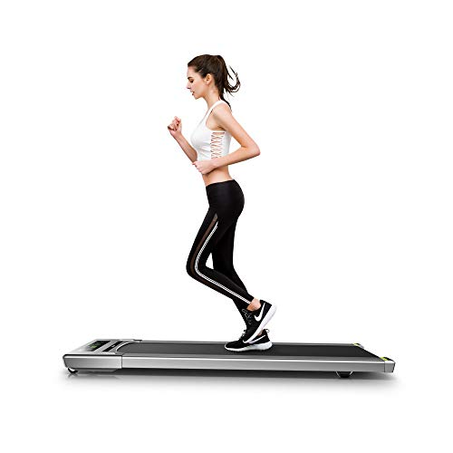 fitbill f.Walk Smart Under Desk Treadmill with Handrail, Remote Controller and Workout App