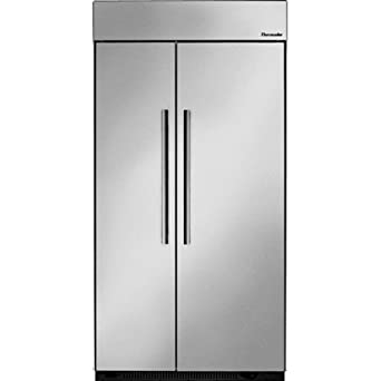 thermador refrigerator. thermador t42br810ns 42 in. built-in side by stainless steel master\u0026#44 refrigerator