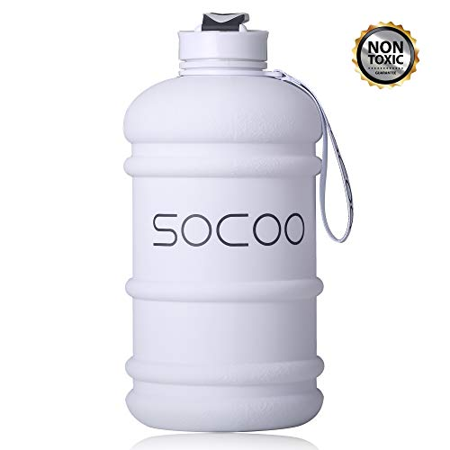 (Half Gallon Water Bottle Dishwasher Safe US Eastman Tritan BPA Free Reusable Drinking Gym Water Bottle for Sports Travel Camping Hiking Hydrate Large Water Jug with Spout (Hand)