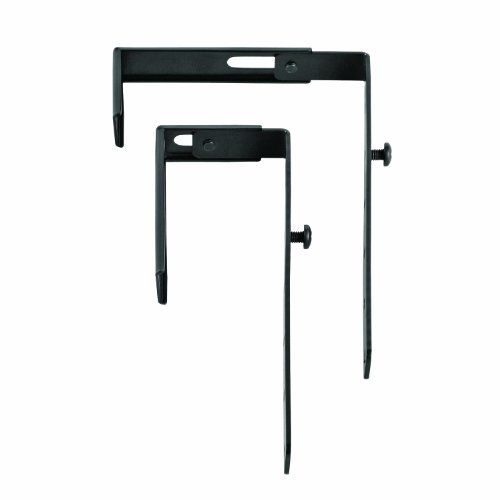 STEELMASTER Slot System Partition Hangers, for Use on 1.38 to 3.63-Inch Partitions, Set of 2, Black (264P10104)