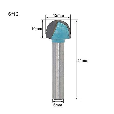 etc tige de 6mm agglom/ér/é utilis/és pour la gravure 3D 1x Fraise /à gorges en carbure PVC MDF pierre artificielle largeur de coupe 6-32mm pour acrylique 6 * 16mm rouge