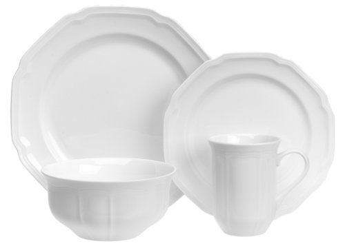 Amazon.com | Mikasa Antique White 16-Piece Dinnerware Set Service for 4 Dinnerware Sets  sc 1 st  Amazon.com : antique white dinnerware - pezcame.com