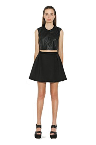 Ringuet - Pleated Fit and Flare Skirt (Black) (6) by Ringuet