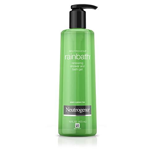 Neutrogena Rainbath Renewing Shower And Bath Gel, Moisturizing Body Wash and Shaving Gel with Clean Rinsing Lather, Pear & Green Tea Scent, 16 fl. oz