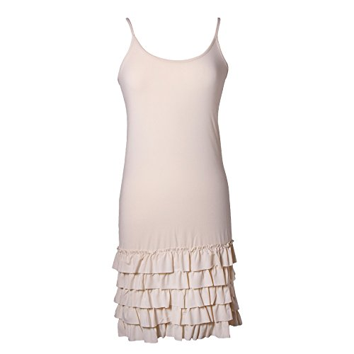 Cream Slip Dress - 7