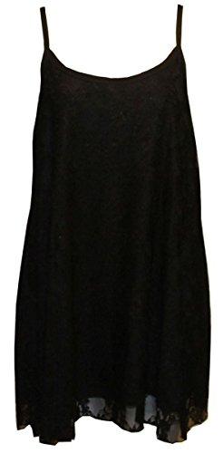 Camiseta para sin mujer Negro mangas 21fashion wpYtwx