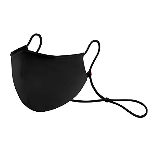 GENTSY HQ Face Mask | BLACK Unisex Reusable Liquid-Repellent Protection Washable Strap and Nose Clip Insert Adjustable…