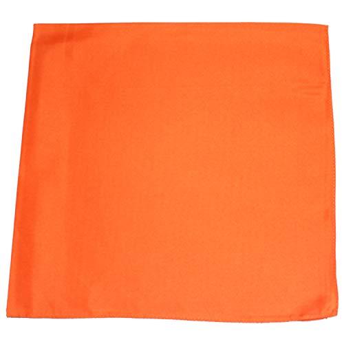 Mechaly Plain 100% Cotton X Large Bandana - 27 x 27 Inches (Orange)