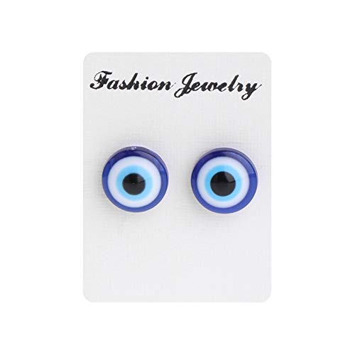 Lottoy 1 Pair Unisex Weight Loss Blue Eyes Shape Ear Stud, Healthy Magnetic Therapy Earrings 10mm, No Piercing by Lottoy (Image #3)