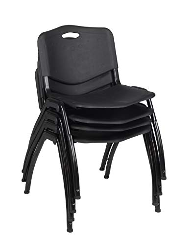 School 12 Chair Stack (Regency 4700BK4PK M' Stack Chair (4 Pack), Black)