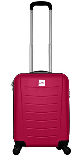 Hard Shell ABS 4 wheel Spinner Lightweight Hand Luggage Cabin Travel Trolley (PINK) Abs Trolley
