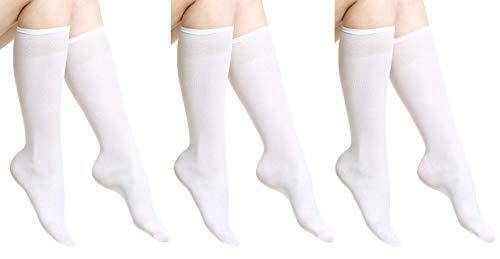 6826de8465 Opaque Microfibre Socks 60 DEN Knee Highs Women No Pattern by Aurellie One  Size packs of