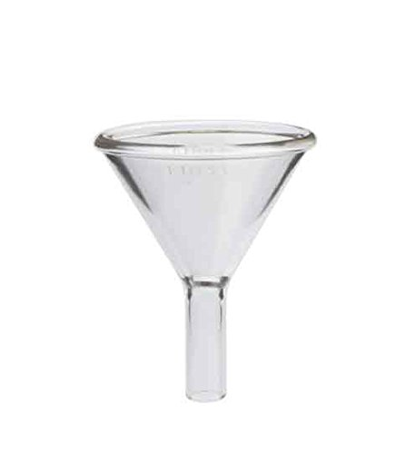 "Kimax 29020-150 Glass Round Powder Filling Funnel, with 1.5"" Stem, 150mm Diameter (Pack of 2)"