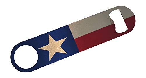 Texas State Flag Speed Bottle Opener Heavy Duty Gift For Texan Lone Star State ()