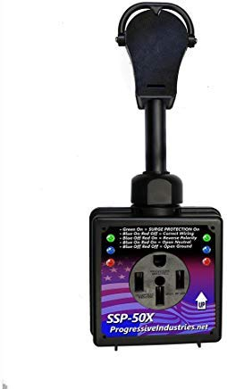 Progressive Industries, Smart RV Surge Protector, 50-Amp, SSP-50X (Best 30 Amp Rv Surge Protector)