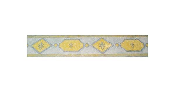 Bord bande géométrique vinyle effet peinture spatolata jaune et ...