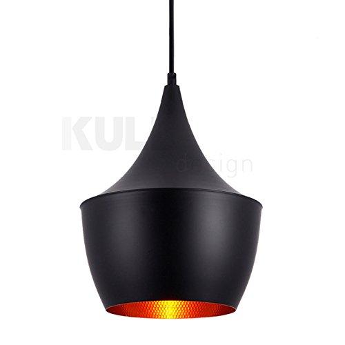 Lámpara Beat Fat negra. Lámpara de techo inspirada en el ...