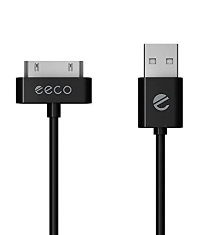 eeco Apple MFi Certified 3ft iPhone 4/4s Charger Cable, iPhone 3G/3GS, iPad 1/2/3, iPod Touch 1/2/3/4, iPod 5th Gen, iPod Classic, iPod Nano 1/2/3/4/5/6 (Black) (Ipod Charger 4th Gen)