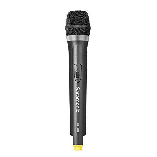 Saramonic SR-HM4C 4-Channel VHF Wireless Handheld Microphone with Integrated Transmitter for the SR-WM4C Wireless Microphone System Compatible with Canon Nikon Sony DV DSLR Cameras - Transmitter Integrated