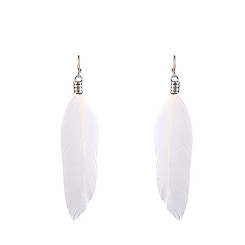 Price comparison product image ieasysexy Fashion Women Feather Dangle Pendant Fish Hook Earrings