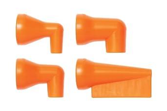 """Loc-Line Coolant Hose 90 Degree Nozzle Kit, Acetal Copolymer, 4 Piece, 1/2"""" Hose ID"""